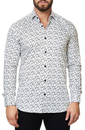Men's Maceoo Luxor Funky Gun Trim Fit Sport Shirt