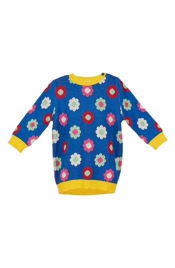 Girl's Margherita Daisy Double Knit Sweater Dress