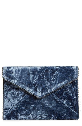 Rebecca Minkoff Leo Velvet Envelope Clutch - Blue