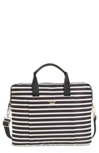 Kate Spade New York Stripe Nylon Commuter Bag - Black