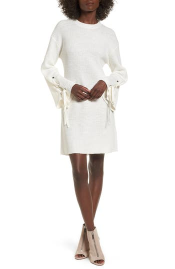 Bp. Tie Sleeve Sweater Dress, Ivory