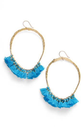 Women's Serefina Tassel Hoop Earrings