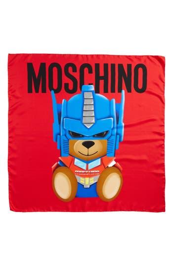 Women's Moschino Transformers Print Silk Scarf