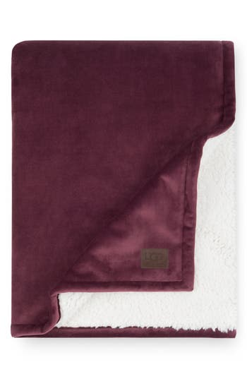 Ugg Bliss Faux Shearling Throw, Size One Size - Red