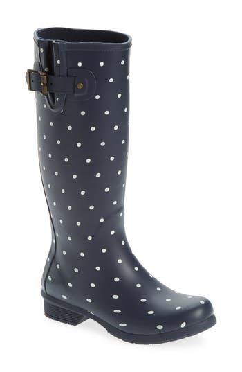 Chooka Classic Dot Rain Boot, Blue