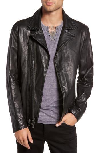 Men's John Varvatos Star Usa Studded Collar Leather Jacket