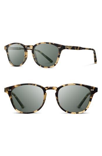 Shwood Kennedy 50Mm Polarized Sunglasses - Havana/ G15P