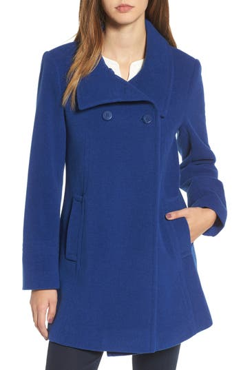 Women's Larry Levine Double Breasted Coat