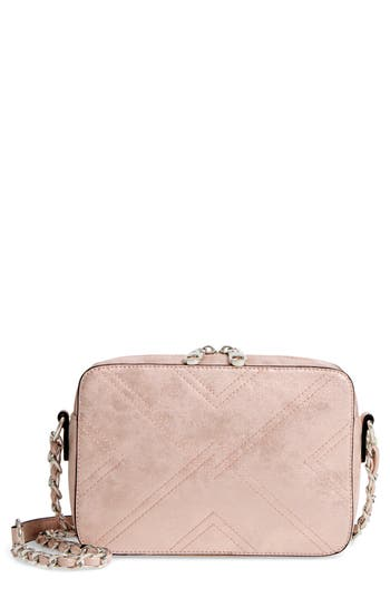 Chelsea28 Bella Stitched Faux Leather Crossbody Bag - Pink