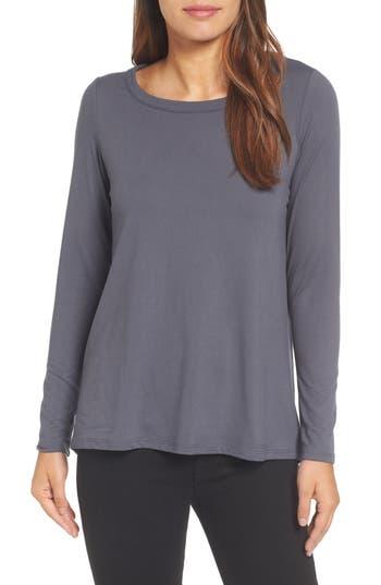 Women's Bobeau High/low Bow Back Top, Size X-Small - Grey