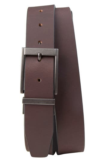 Timberland Classic Reversible Leather Belt, Brown/ Black
