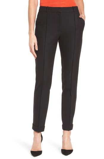Petite Women's Boss Acrila Straight Leg Suiting Trousers