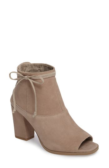 Seychelles Triple Threat Open Toe Bootie, Beige