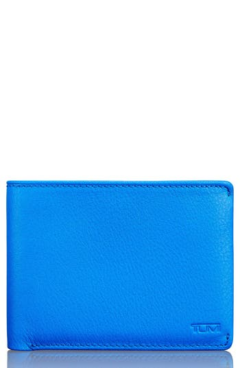 Tumi Leather Wallet - Blue