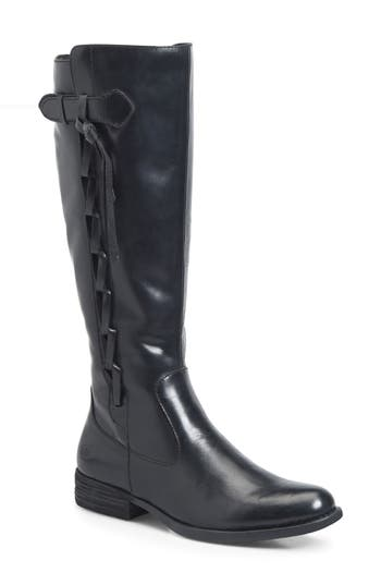 B?rn Cook Knee High Boot Wide Calf- Black