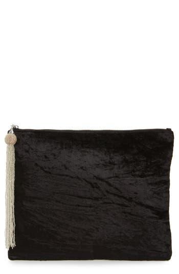 Steve Madden Velvet Pouch Clutch - Black