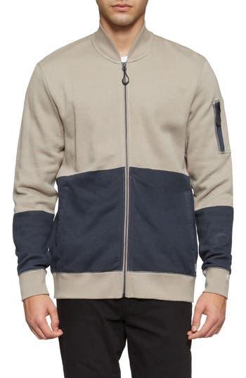Tavik Civilian Flight Fleece Bomber Jacket, Grey