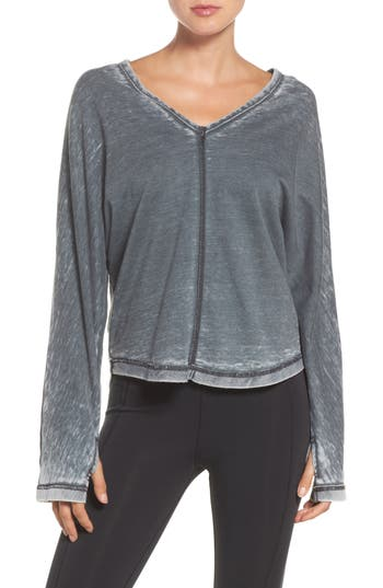 Free People Fp Movement Mix It Up Tee, Grey