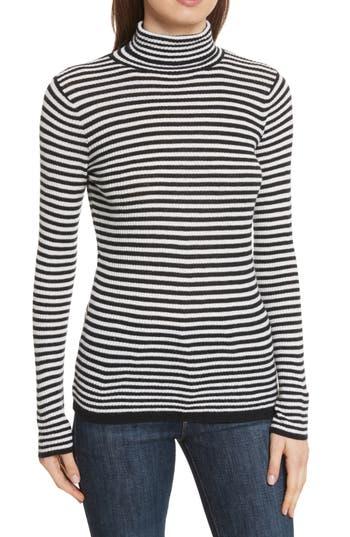 Women's Soft Joie Zelene Stripe Cowl Neck Sweater, Size Medium - Black