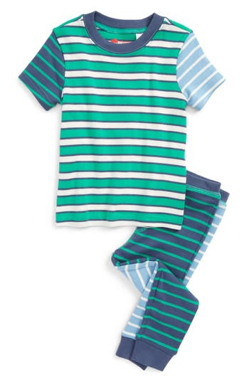 Boy's Tucker + Tate Fitted Two-Piece Pajamas, Size 4 - Green