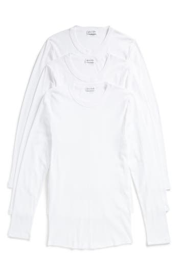 Calvin Klein 205W39Nyc Concept Luxury 3-Pack Long Sleeve T-Shirt, White
