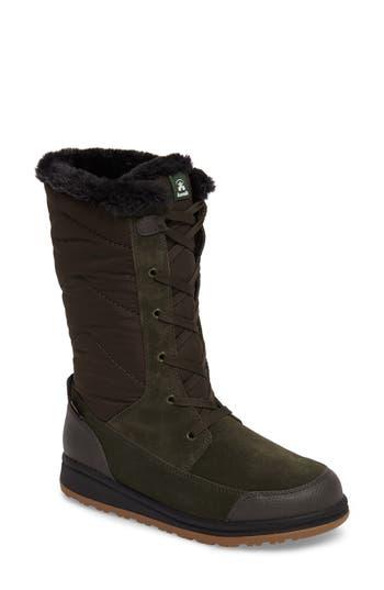 Kamik Quincys Waterproof Boot, Green