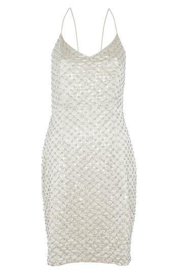 Women's Topshop Embellished Slipdress