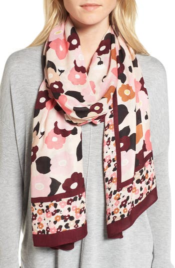 Women's Kate Spade New York Blooming Oblong Scarf