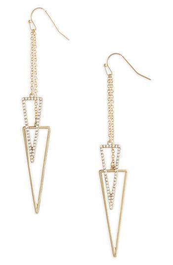 Women's Canvas Pavé Crystal Drop Earrings