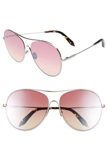 Victoria Beckham Loop 6m Oversize Round Sunglasses - Luna