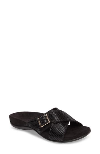Vionic Dorie Cross Strap Slide Sandal