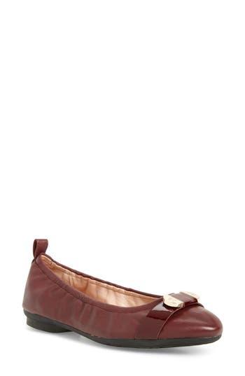 Taryn Rose Abriana Ballet Flat- Burgundy