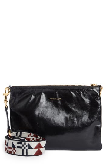 Isabel Marant Nessah Convertible Crossbody Clutch - Black