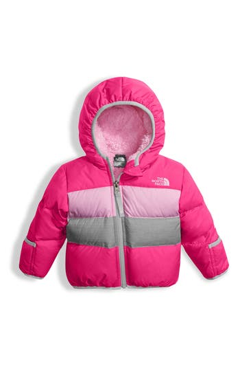 Infant Girl's The North Face 'Moondoggy' Reversible Down Jacket