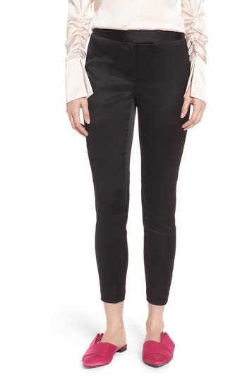 Women's Lewit Stretch Satin Skinny Trousers