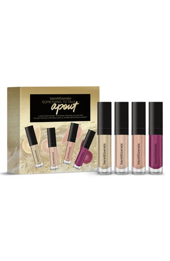 Bareminerals Four-Piece Mini Moxie Plumping Lipgloss Collection -