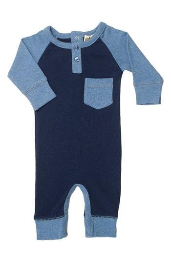 Infant Boy's Monica + Andy Organic Cotton Henley Romper
