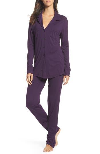 Women's Love+Grace 'Cassie' Cotton & Modal Pajamas, Size X-Small - Purple
