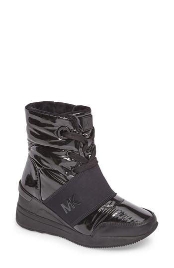 Michael Michael Kors Shay Wedge Bootie- Black