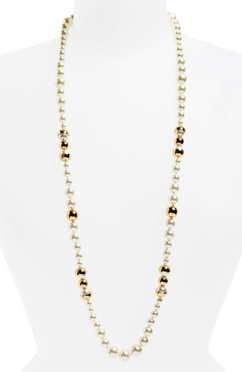 Women's Tory Burch Imitation Pearl Strand Necklace