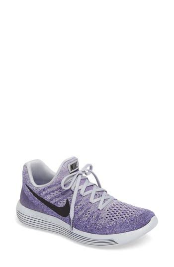 Women's Nike Lunarepic Low Flyknit 2 Running Shoe, Size 5.5 M - Purple