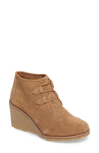 Toms Desert Wedge Bootie, Brown