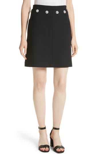 Women's Tory Burch Fremont Embellished A-Line Skirt