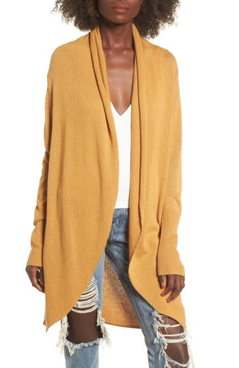 Women's Leith Easy Circle Cardigan, Size X-Small - Yellow