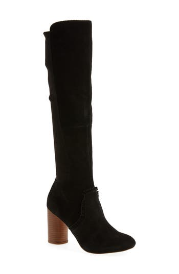Sole Society Allegra Stretch Back Boot, Black