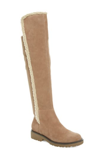 Sole Society Juno Faux Shearling Trim Boot, Grey