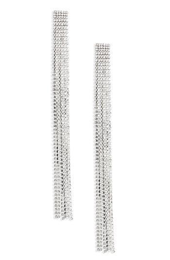 Women's Topshop Long Crystal Tassel Earrings