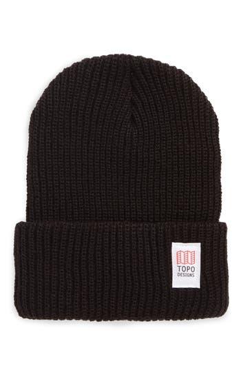 Men's Topo Designers Heavyweight Knit Cap - Black