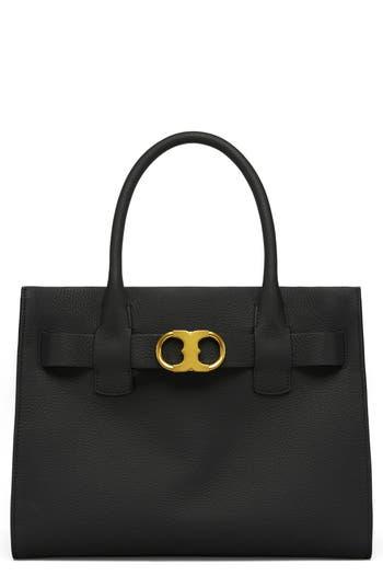 Tory Burch Gemini Link Leather Tote - Black