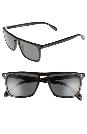 Men's Oliver Peoples Bernardo 54Mm Polarized Sunglasses - Black